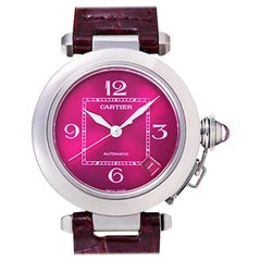 Limited Edition Cartier Pasha C Purple Stainless Steel Automatic Watch