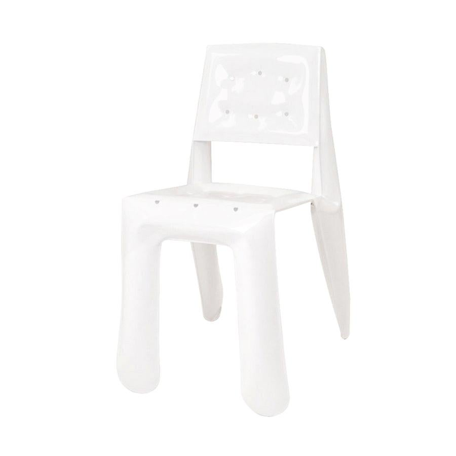 In Stock in Los Angeles, Limited Edition Chair in Glossy White Finish