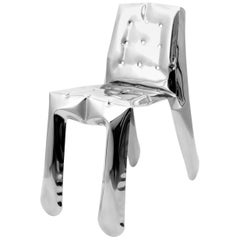 In Stock in Los Angeles, Limited Edition Chair in Polished Stainless Steel