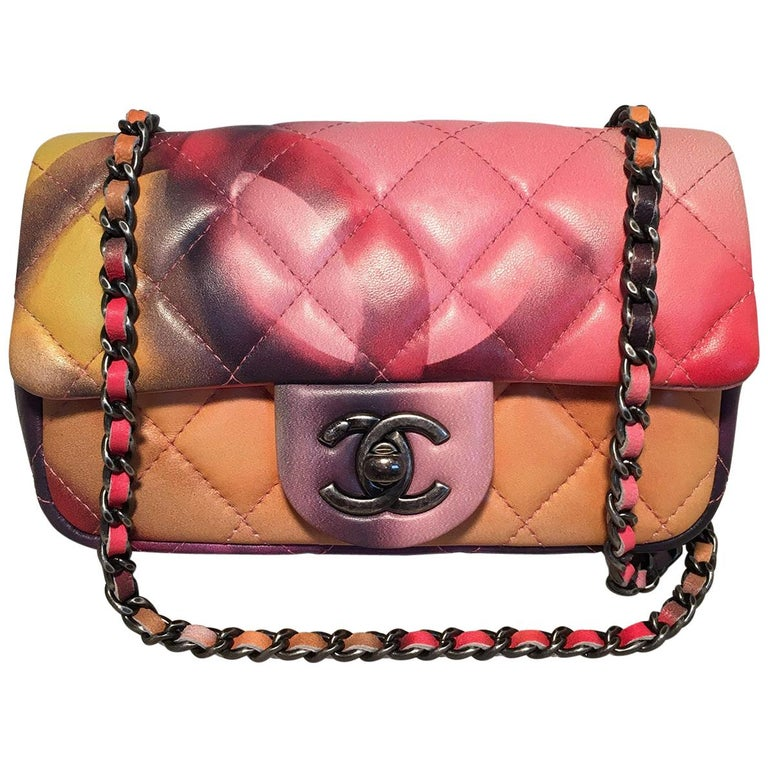 Chanel Flower Power small flap shoulder bag, ca. 2010, offered by Ladybag International