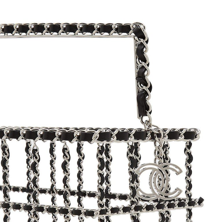 Women's Limited Edition Chanel Shopping Basket Bag For Sale