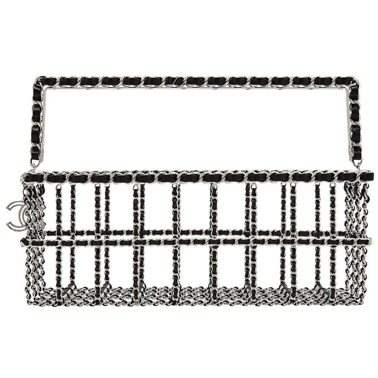 Limited Edition Chanel Shopping Basket Bag For Sale