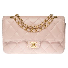 Limited Edition Chanel Timeless in pink and white quilted leather, gold hardware