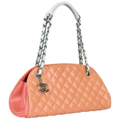 Limited Edition Chanel Tri-Color Caviar 'Just Mademoiselle' Shoulder Bag