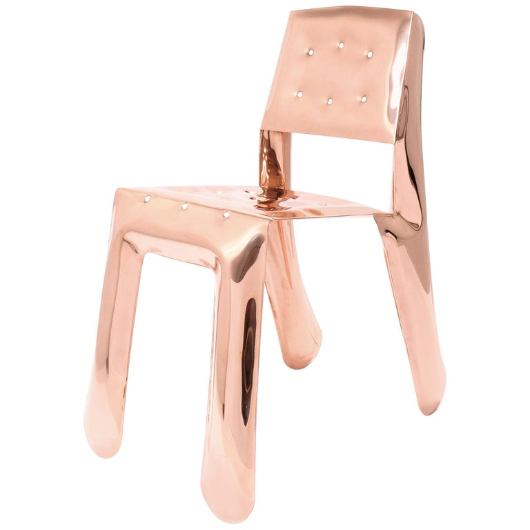 Limited Edition Chippensteel 0.5 Chair in Lacquered Copper by Zieta For Sale
