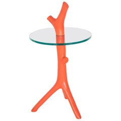 Limited Edition Coral Form Glass Side Table Designed by Garouste and Bonetti