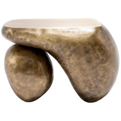 """Limited Edition """"Duo"""" Brass Side Table by Mauro Mori - Italy, 2019"""