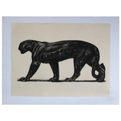 Limited Edition Etching by Paul Jouve, 52/100