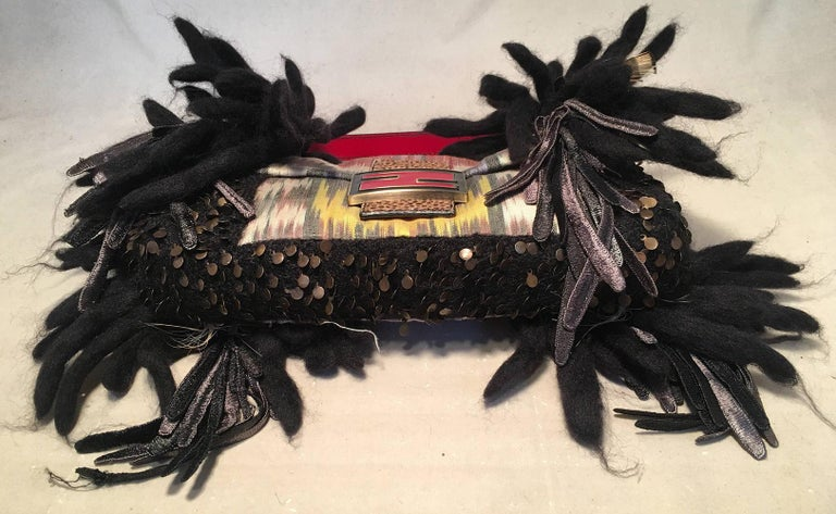 Limited Edition Fendi for Neiman Marcus Dreadlock Bird Baguette 33 of 44 Made In Excellent Condition For Sale In Philadelphia, PA