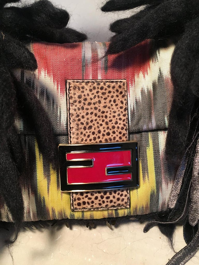 Women's Limited Edition Fendi for Neiman Marcus Dreadlock Bird Baguette 33 of 44 Made For Sale