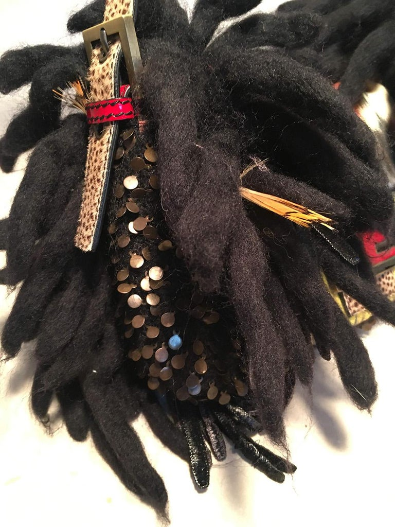 Limited Edition Fendi for Neiman Marcus Dreadlock Bird Baguette 33 of 44 Made For Sale 1