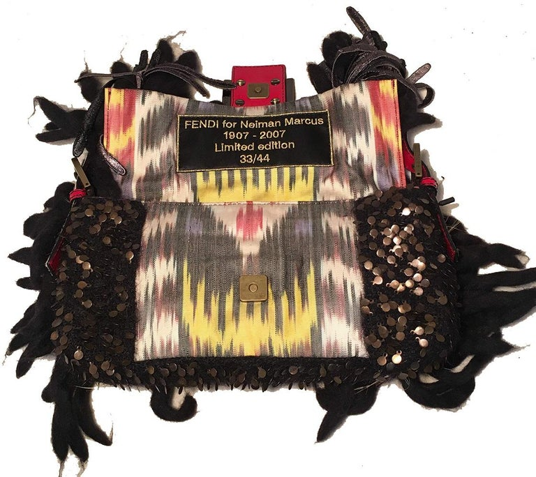 Limited Edition Fendi for Neiman Marcus Dreadlock Bird Baguette 33 of 44 Made For Sale 2