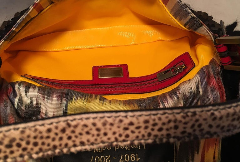 Limited Edition Fendi for Neiman Marcus Dreadlock Bird Baguette 33 of 44 Made For Sale 4