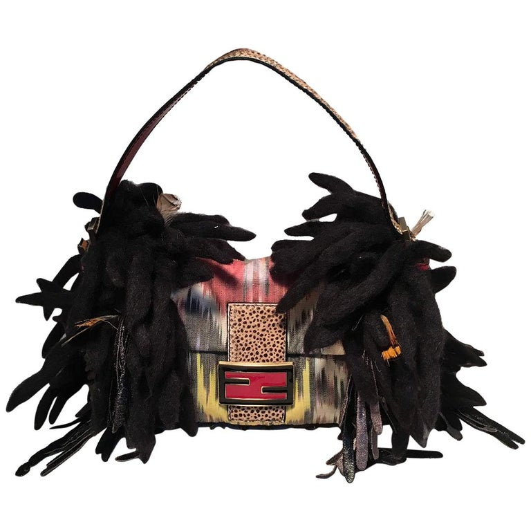 Limited Edition Fendi for Neiman Marcus Dreadlock Bird Baguette 33 of 44 Made For Sale