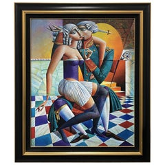 "Limited Edition Georgy Kurasov Canvas Painting ""Palace Intrigue"""