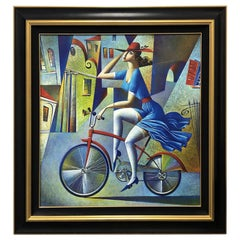 "Limited Edition Georgy Kurasov Painting ""Bicycle Tour"""