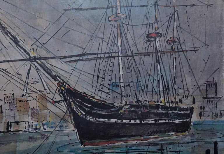 Painted Limited Edition Graphic Print of USS Constitution by A. Birdsey For Sale