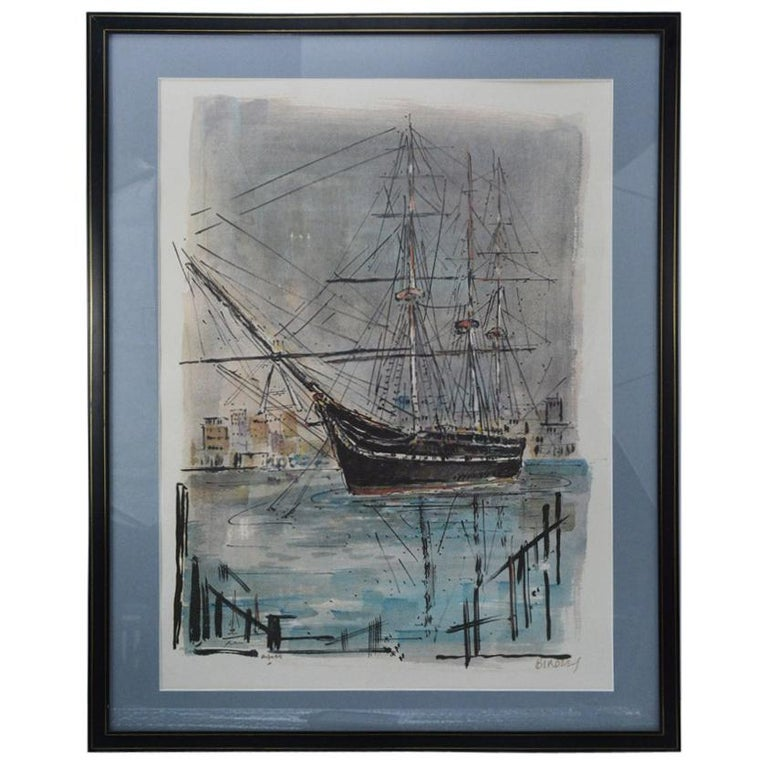 Limited Edition Graphic Print of USS Constitution by A. Birdsey For Sale