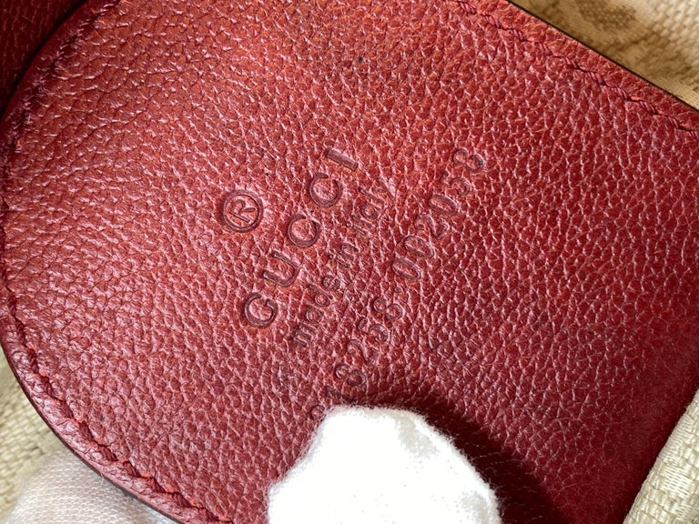Limited Edition Gucci Green Carpet Challenge Red Leather Shoulder Tote Bag For Sale 4