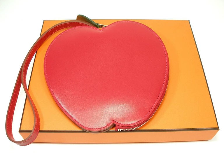 Hermès Tutti Frutti Large Limited Edition Red Apple Clutch   For Sale 2
