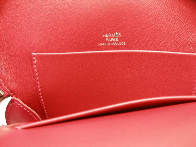 Hermès Tutti Frutti Large Limited Edition Red Apple Clutch   For Sale 3