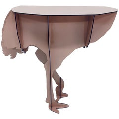 "Limited Edition iBride ""Diva"" Ostrich Console Table by Rachel and Benoît Convers"