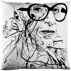 Limited Edition Iris Apfel Art Pillow Throw Cushion by Robert Knoke for Henzel