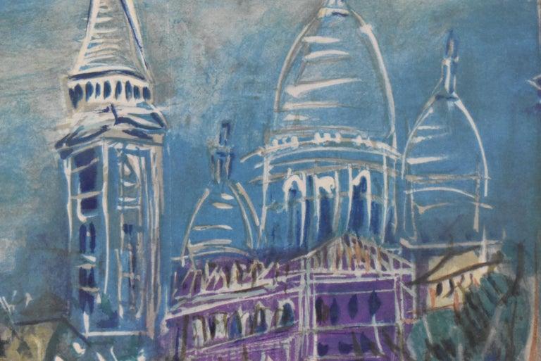 Unknown Limited Edition Lithograph 202/250 by Jean Dufy Montmartre Et La Basilique Du For Sale