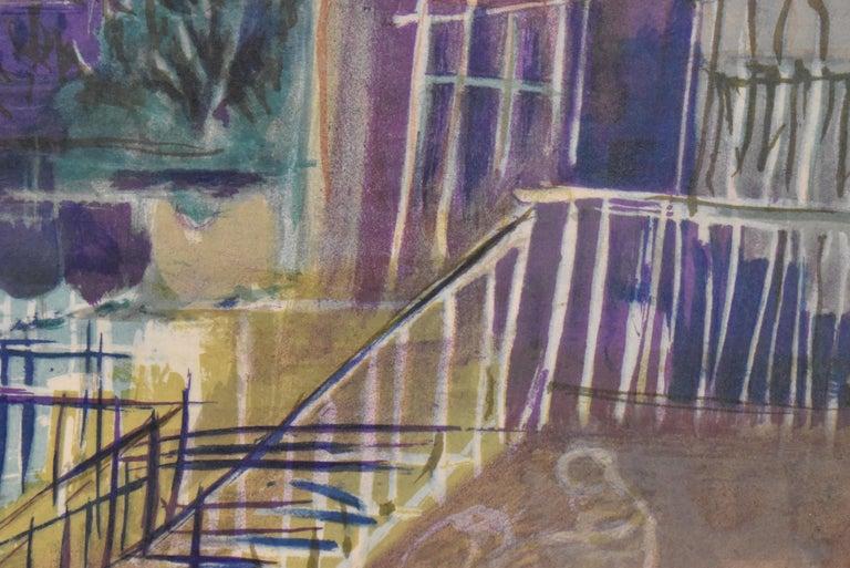 Mid-20th Century Limited Edition Lithograph 202/250 by Jean Dufy Montmartre Et La Basilique Du For Sale