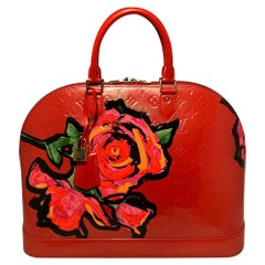 Limited Edition Louis Vuitton Orange Sunset Vernis Roses Alma GM