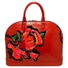 Limited Edition Louis Vuitton Orange Sunset Vernis Roses Alma GM