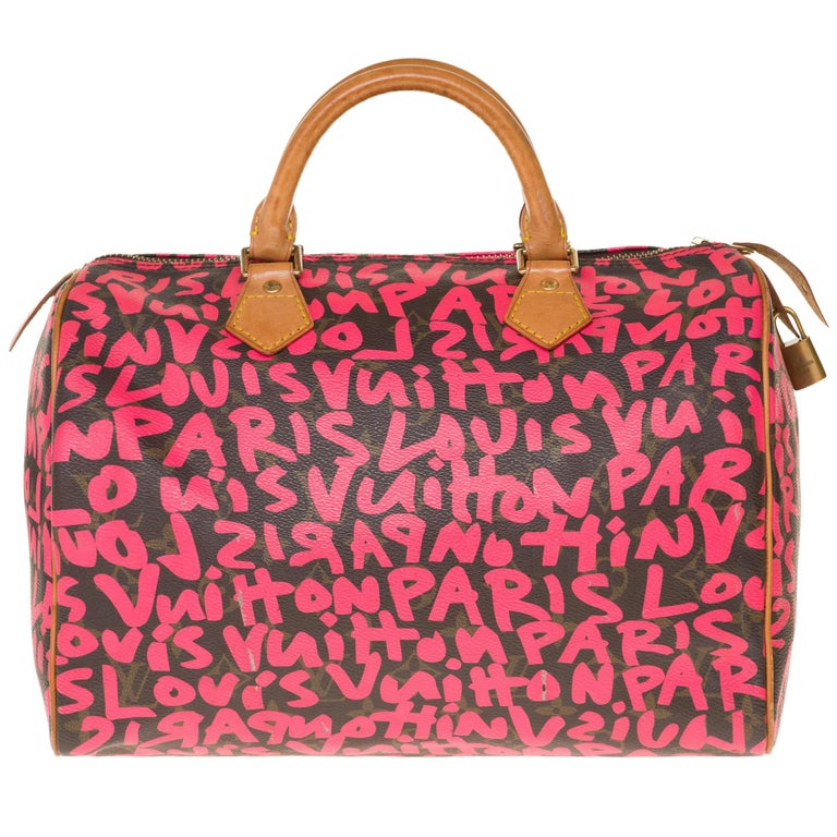 Louis Vuitton limited-edition brown monogram-canvas Graffiti Speedy 30, 21st Century, offered by Houlux