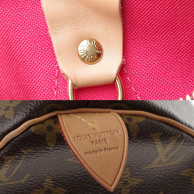 Limited Edition Louis Vuitton Speedy 30 V grenade in brown monogram canvas For Sale 1