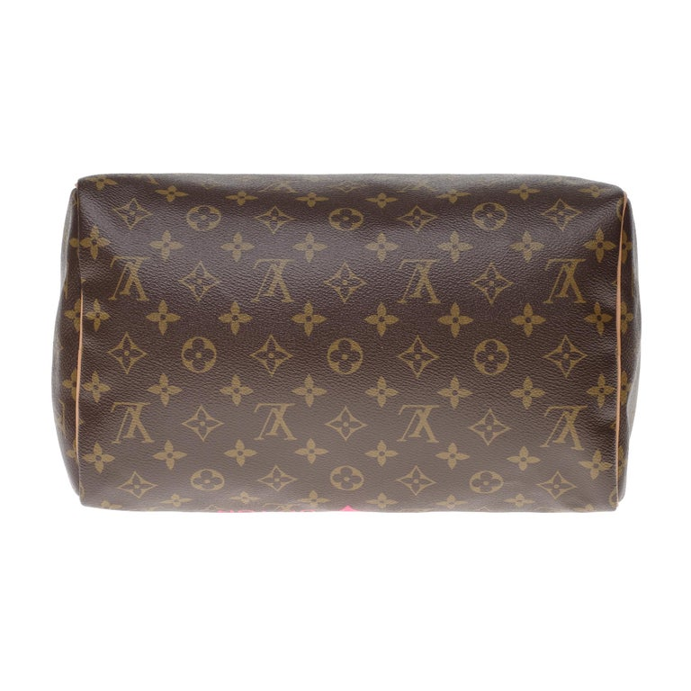 Limited Edition Louis Vuitton Speedy 30 V grenade in brown monogram canvas For Sale 5