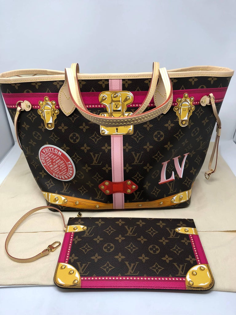 Limited Edition Louis Vuitton Trunks 2018 Collection Neverfull Mm At