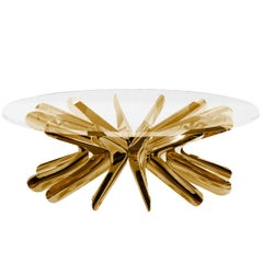Limited Edition Medium Steel in Rotation Coffee Table in Lacquered Copper, Zieta