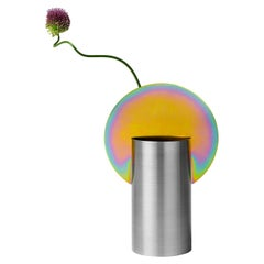 Limited Edition Modern Malevich Vase CSL7 by NOOM with Rainbow Zinc Plating Stee