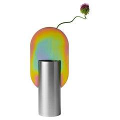 Limited Edition Modern Vase Genke CSL7 by Noom with Rainbow Zinc Plating Steel