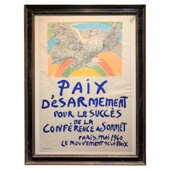 Limited Edition Pablo Picasso 1950s Paix d' Esarmement Lithograph