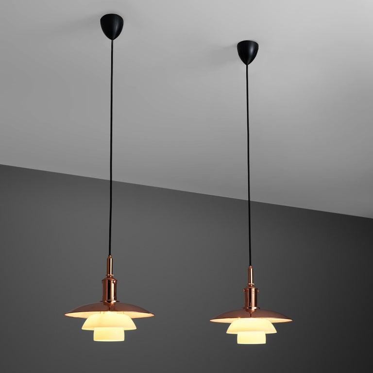 Scandinavian Modern Limited Edition Poul Henningsen PH 3 1/2 Pendant in Copper For Sale