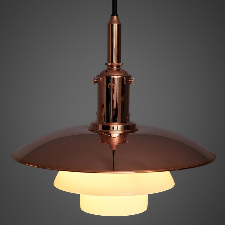 Danish Limited Edition Poul Henningsen PH 3 1/2 Pendant in Copper For Sale