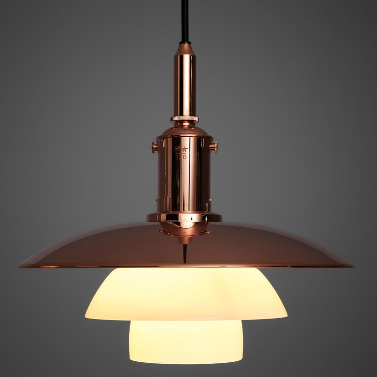 Limited Edition Poul Henningsen PH 3 1/2 Pendant in Copper In Good Condition For Sale In Waalwijk, NL