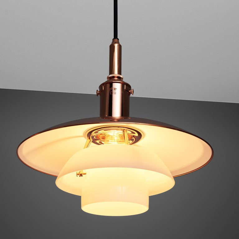 Bronze Limited Edition Poul Henningsen PH 3 1/2 Pendant in Copper For Sale