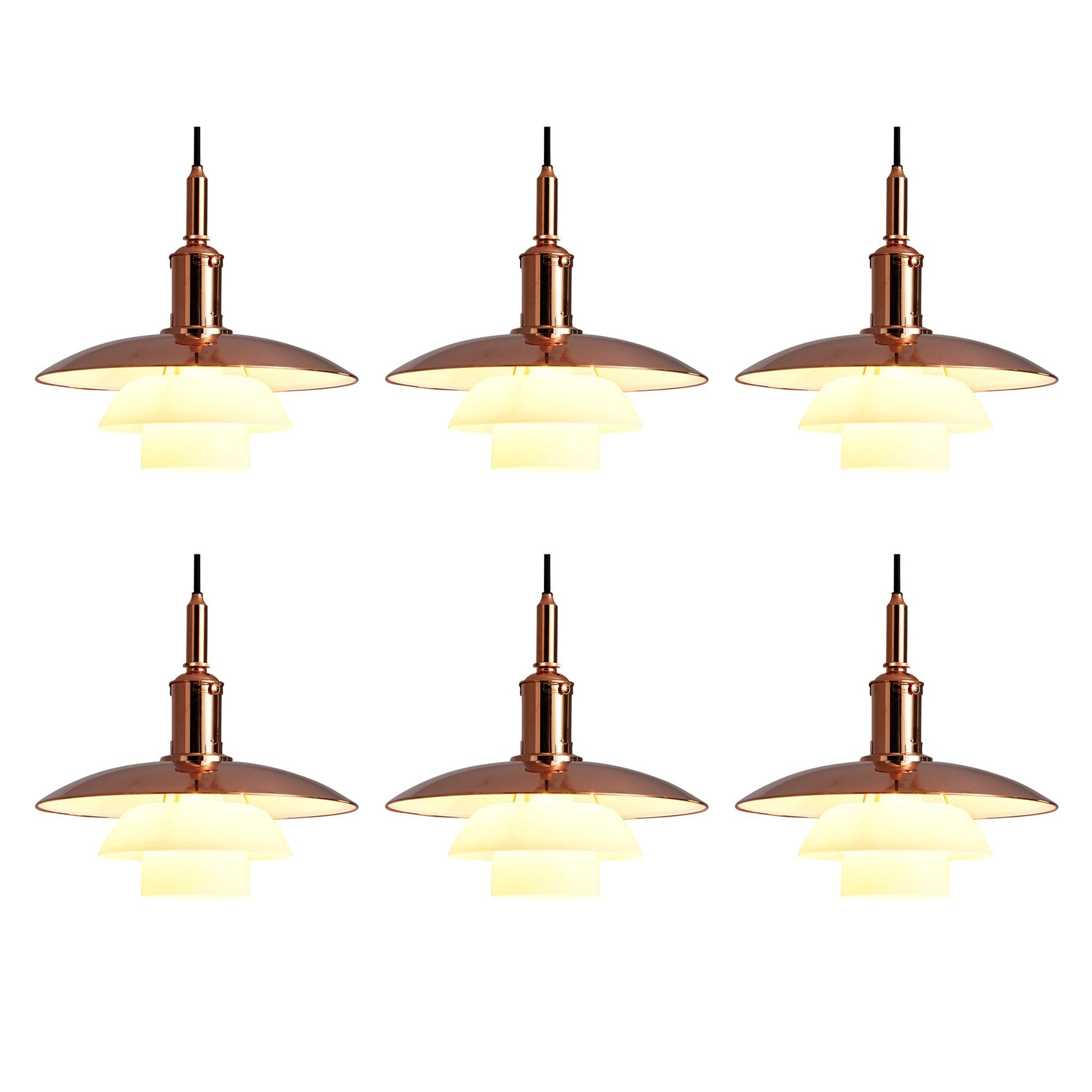 Limited Edition Poul Henningsen PH 3 1/2 Pendants in Copper