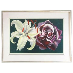 Limited Edition Print L. Nesbitt 1974 Lily & Rose Signed