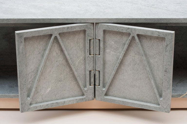 Limited Edition Relief Stone Credenza in Soapstone by Fort Standard In New Condition For Sale In Brooklyn, NY