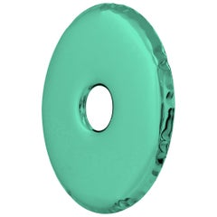 Limited Edition Rondo 120 Gradient Mirror in Green Stainless Steel by Zieta