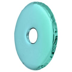 Limited Edition Rondo 150 Gradient Mirror in Green Stainless Steel by Zieta