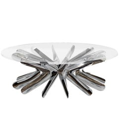 Limited Edition Rotation Coffee Table in Polished Stainless Steel