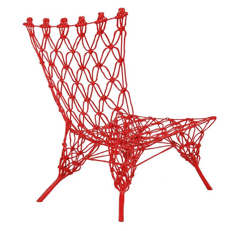Italian Limited Edition Rouge Knotted Chair by Marcel Wanders For Sale